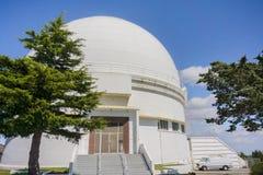 May 7, 2017 San Jose/CA/USA - Dome that houses the 120-inch Shane telescope at Lick Observatory - Mount Hamilton, south San. Francisco bay royalty free stock photos