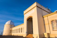 May 19, 2018 San Jose / CA / USA - View of the facade of the main building of the historical Lick Observatory (completed in 1888). Operated by the University of stock images