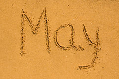 May  in the sand Royalty Free Stock Photos