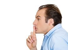 May saying silence, shh Royalty Free Stock Photography