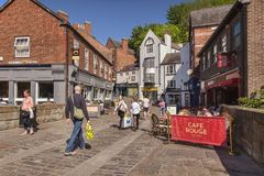 Durham City Shopping in Silver Street Royalty Free Stock Photography