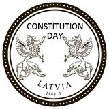 May 1st Constitution Day Latvia. Stamp rubber stamp. Vector illustration Stock Photos