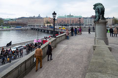 May 1st demonstration in Stockholm, Sweden Stock Photos