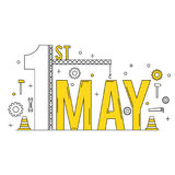 May 1st International workers day concept Royalty Free Stock Photo