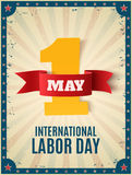 May 1st. Labor Day background template. Royalty Free Stock Photography