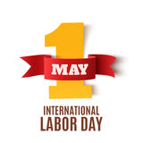 May 1st. Labor Day background on white. Royalty Free Stock Photo