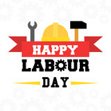 May 1st labor day banner. May 1st labor day themed banner royalty free illustration