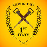 May 1st. Labor Day. crossed jackhammers Stock Image