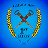 May 1st. Labor Day. Crossed jackhammers, symbol of work Stock Photo