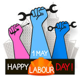 May 1st Labor day. The first of may labor day vector illustration stock illustration