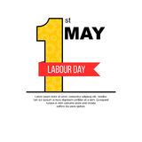 May 1st Labor day themed banner. Design Royalty Free Stock Images