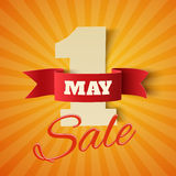 May 1st. Sale. Royalty Free Stock Photo