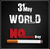 May 31st World No tobacco day on black background Stock Photos