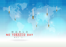 May 31st World no tobacco day. Create a cigarettes image on a blue background Royalty Free Stock Photo