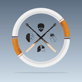 May 31st World No Tobacco Day. Diseases of cigarette. Vector. Royalty Free Stock Photography