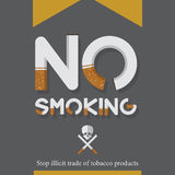 May 31st World No Tobacco Day poster. No smoking sign in cigarette letters. Icons. Stock Photos