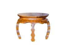 mały stołowy drewniany Zdjęcia Stock