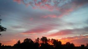 May 24, 2017. Sunset in Walla Walla, Washington royalty free stock images