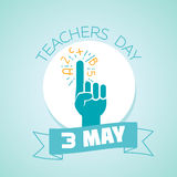 3 may teachers day. Calendar for each day on may 3. Greeting card. Holiday - teachers day. Icon in the linear style Stock Photos