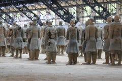 May-07-2017: Terakotowi wojsko, wojownicy i konie, porcelanowy Xian Zdjęcie Royalty Free