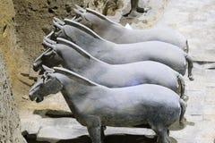 May-07-2017: Terakotowi wojsko, wojownicy i konie, porcelanowy Xian Obraz Royalty Free