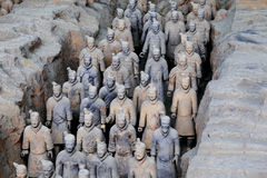 May-07-2017: The Terracotta Army , Warriors and Horses. Xian China. May-07-2017: The Terracotta Army , Warriors and Horses. Close to the Qin Shi Huang`s royalty free stock photos