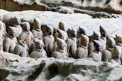 May-07-2017: The Terracotta Army , Warriors and Horses. Xian China. May-07-2017: The Terracotta Army , Warriors and Horses. Close to the Qin Shi Huang`s stock photo
