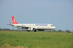 May,11th 2015,  Amsterdam the Netherlands: TC-JSL Turkish Airlin Royalty Free Stock Photos