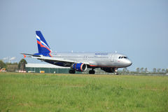 May,11th 2015,  Amsterdam the Netherlands: VP-BWE Aeroflot - Rus Royalty Free Stock Photos