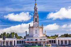 May 13th Celebration Mary Basilica of Lady of Rosary Fatima Portugal. May 13th Celebration of Mary's Appearance Basilica of Lady of Rosary Bell Tower Fatima Royalty Free Stock Image