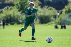 Eabha O`Mahony at the Women`s National League game: Cork City FC vs Galway WFC. May 12th, 2019, Cork, Ireland - Eabha O`Mahony at the Women`s National League stock image