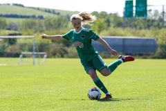 Eabha O`Mahony at the Women`s National League game: Cork City FC vs Galway WFC. May 12th, 2019, Cork, Ireland - Eabha O`Mahony at the Women`s National League stock images