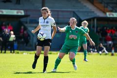 Maggie Duncliffe at the Women`s National League game: Cork City FC vs Galway WFC. May 12th, 2019, Cork, Ireland - Maggie Duncliffe at the Women`s National League stock image