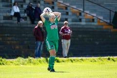 Nathalie O'Brien at the Women`s National League game: Cork City FC vs Galway WFC. May 12th, 2019, Cork, Ireland - Nathalie O' stock image