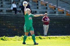 Nathalie O'Brien at the Women`s National League game: Cork City FC vs Galway WFC. May 12th, 2019, Cork, Ireland - Nathalie O'Brien at the Women`s stock photos