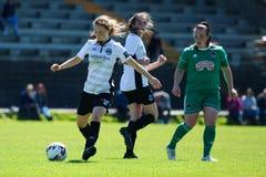Women`s National League game: Cork City FC vs Galway WFC. May 12th, 2019, Cork, Ireland - Women`s National League game: Cork City FC vs Galway WFC stock image