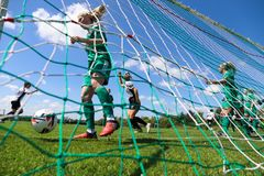 Women`s National League game: Cork City FC vs Galway WFC. May 12th, 2019, Cork, Ireland - Women`s National League game: Cork City FC vs Galway WFC stock photos