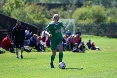 Zara Foley at the Women`s National League game: Cork City FC vs Galway WFC. May 12th, 2019, Cork, Ireland - Zara Foley at the Women`s National League game: Cork stock image