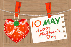 May 10th Mother's Day. Heart greeting. Stock Images