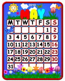 May Themed 2010 Calendar. Bright and colorful Spring themed may month calendar for 2010 Stock Photography