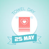 25 may Towel Day. Calendar for each day on may Royalty Free Stock Photography