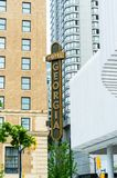 May 12, 2019 - Vancouver, Canada: Rosewood Hotel Georgia luxury accomodations, exterior at Georgia and Howe Streets. royalty free stock photo