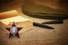 May 9 - Victory Day. Order of the Red Star. Card Royalty Free Stock Image