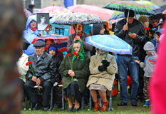 May 9. Victory day parade honoring veterans, joy and sorrow, sadness and tragedy Royalty Free Stock Photography