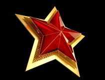 9 May. Victory Day. Red star 3d. Isolated background. Victory Day is a holiday of the victory of the Red Army and the Soviet people over Nazi Germany in the Stock Photo
