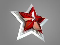 9 May. Victory Day. Red star 3d. Isolated background. Victory Day is a holiday of the victory of the Red Army and the Soviet people over Nazi Germany in the vector illustration
