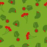 9 May. Victory day. Seamless pattern. Background of cloves, Cap, Royalty Free Stock Images