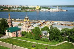 May view of colorful Nizhny Novgorod Russia Royalty Free Stock Images