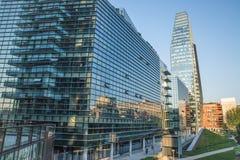 May 2017 - View of Diamante Diamond Tower, inside `Porta Nuova` Area in Milan, near Garibaldi train Station Stock Photo