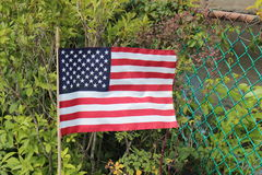 May she wave. American flag on a stick blowing in the wind Royalty Free Stock Photos